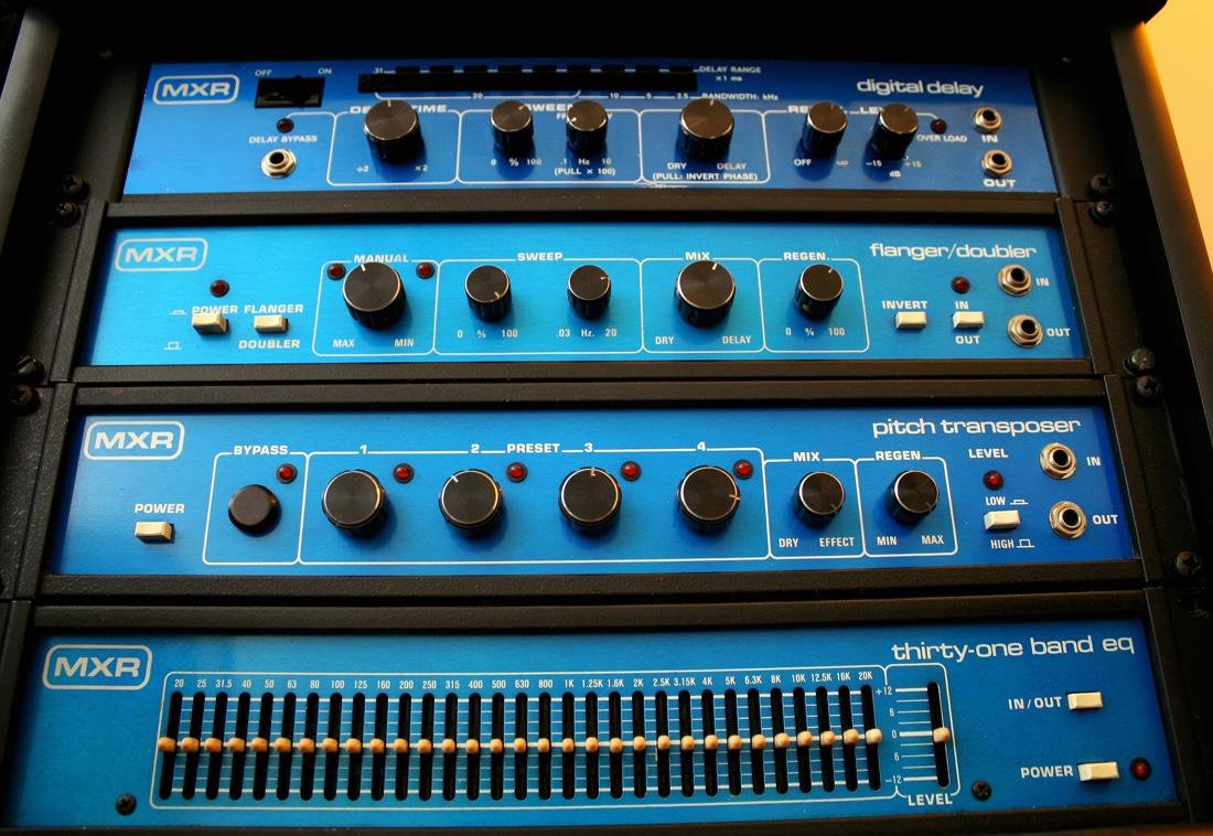 Blue face MXR FX units