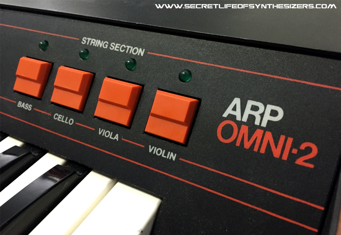 ARP Omni-2 front panel