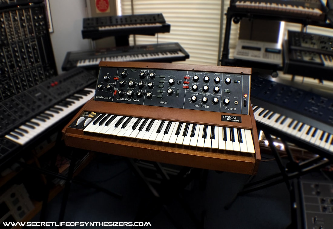 A look under the hood of the Minimoog Model D Synth.