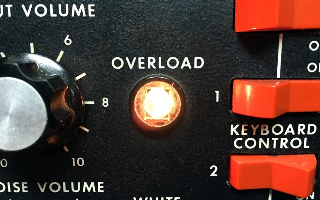 Moog Minimoog overload lamp