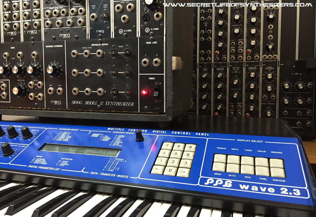 Moog Model 12 and PPG Wave 2.3