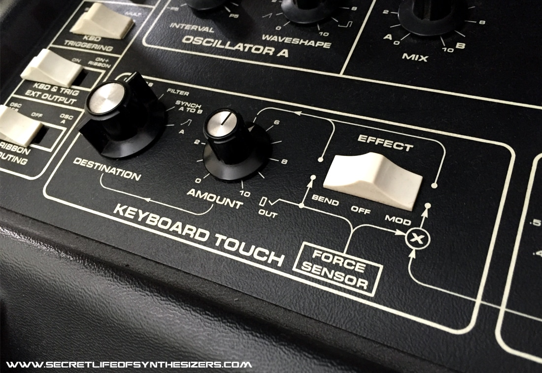 Multimoog front panel touch section