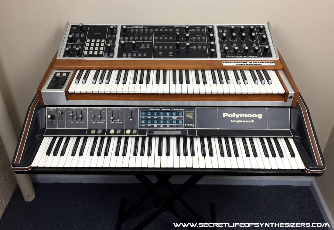 Moog Memorymoog and Polymoog synthesizers