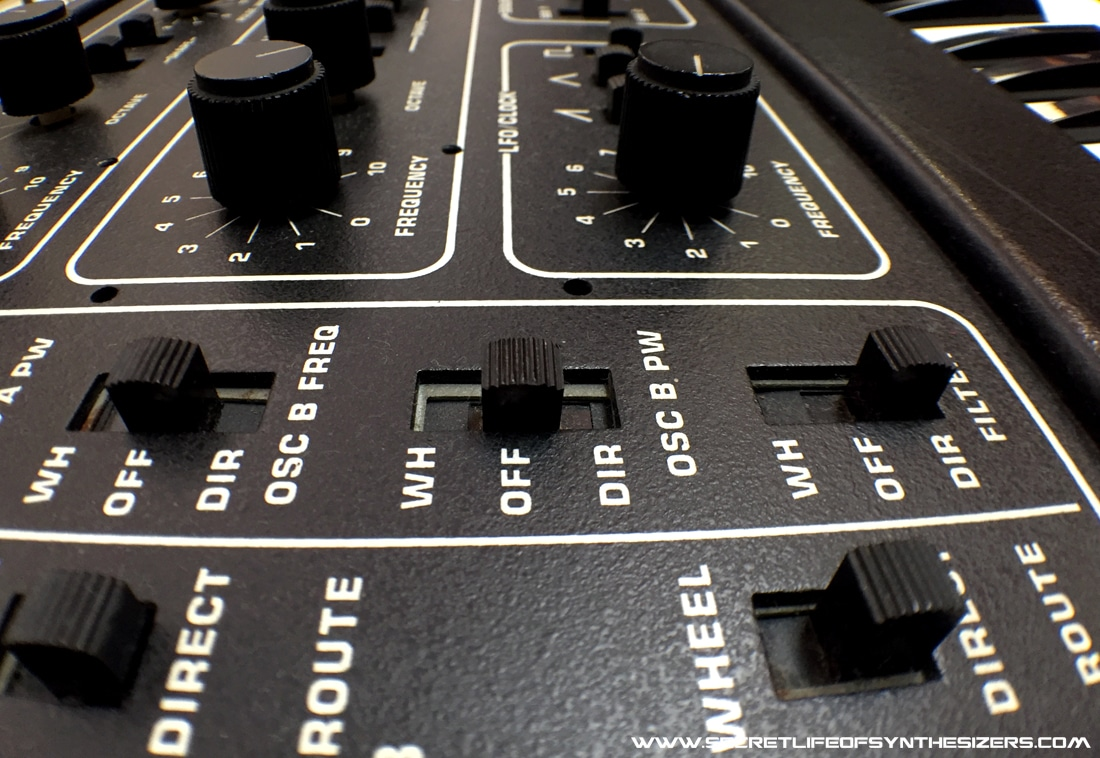 Sequential Circuits Pro-One modulation panel