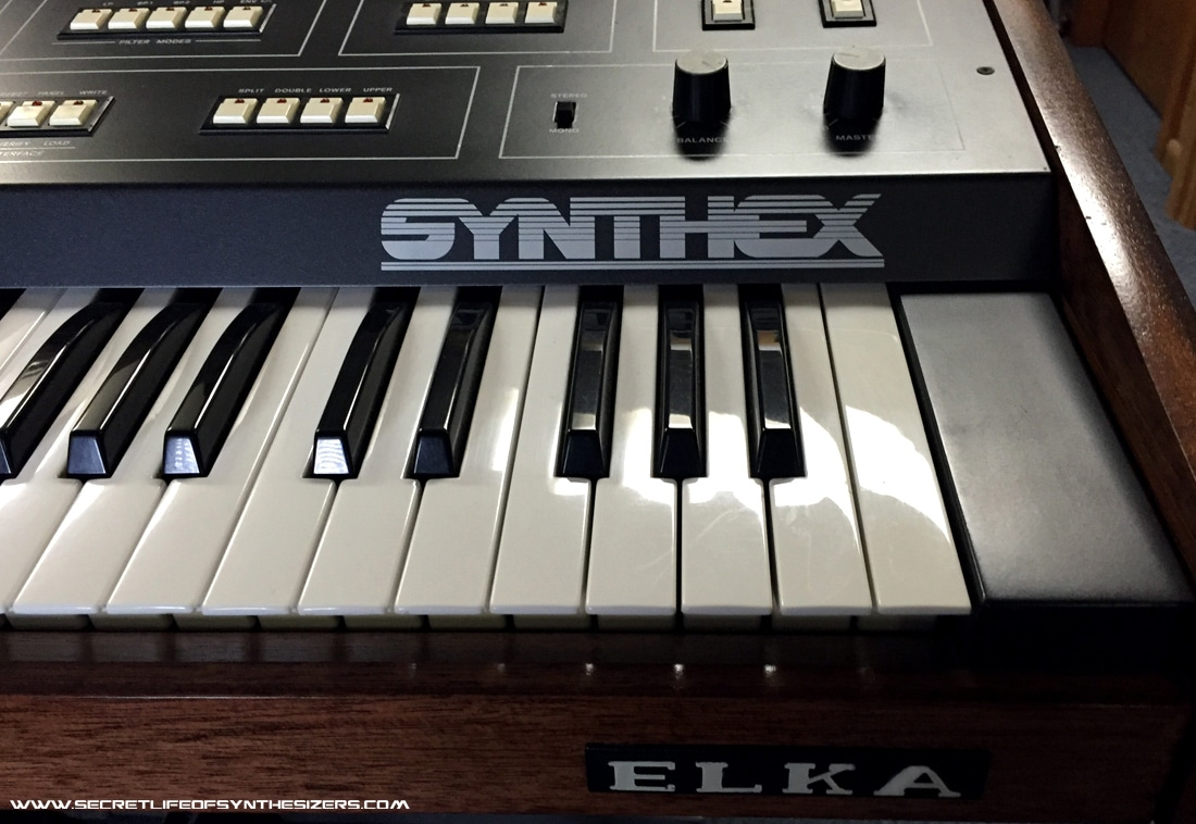 Elka Synthex front panel