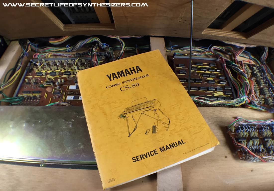 Yamaha CS-80 service manual photo
