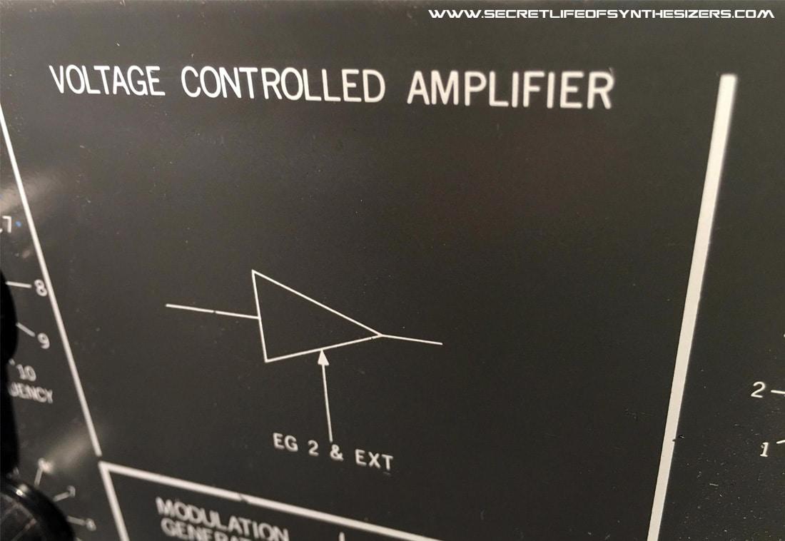 MS-20 VCA panel Korg 35