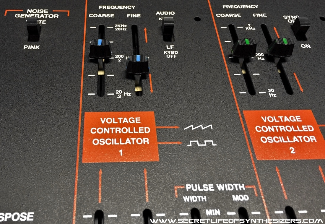 ARP Odyssey front panel VCO section