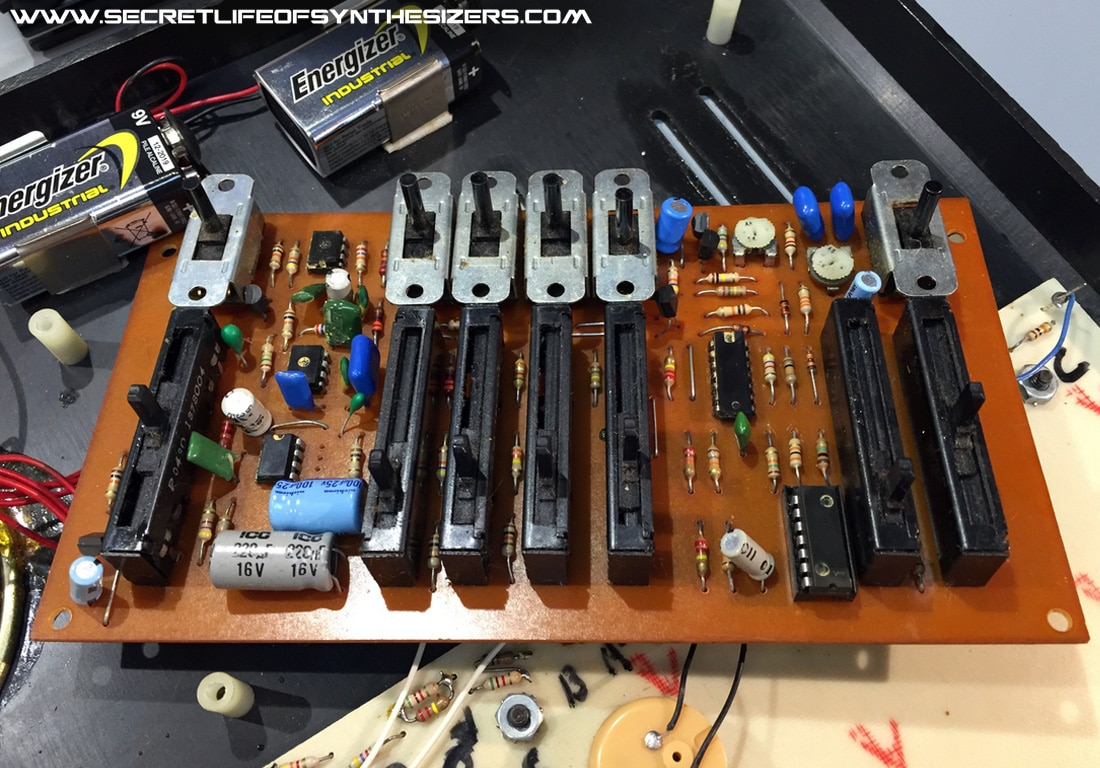 EH Mini-Synthesizer circuit boards