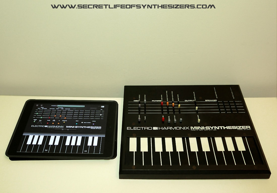 EH Mini-Synthesizer and the iPad app