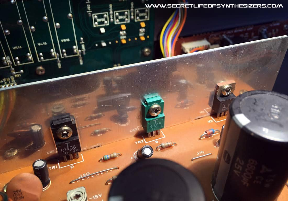 Roland Juno-106 heat sink