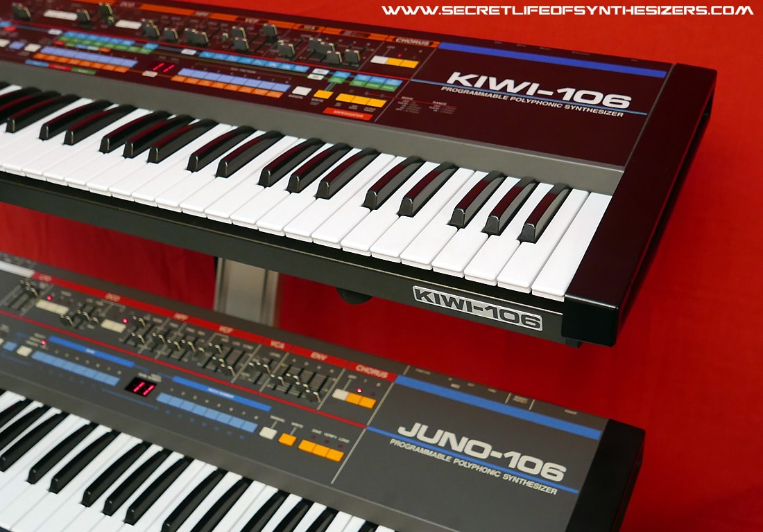 Roland Juno 106 and Kiwi-106 in studio