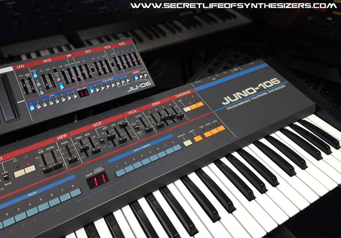 Roland Juno-106 and Roland JU-06
