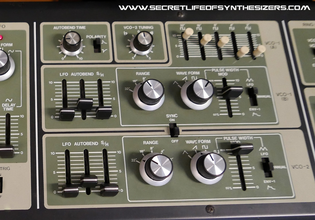 Roland SH-7 front panel VCO section