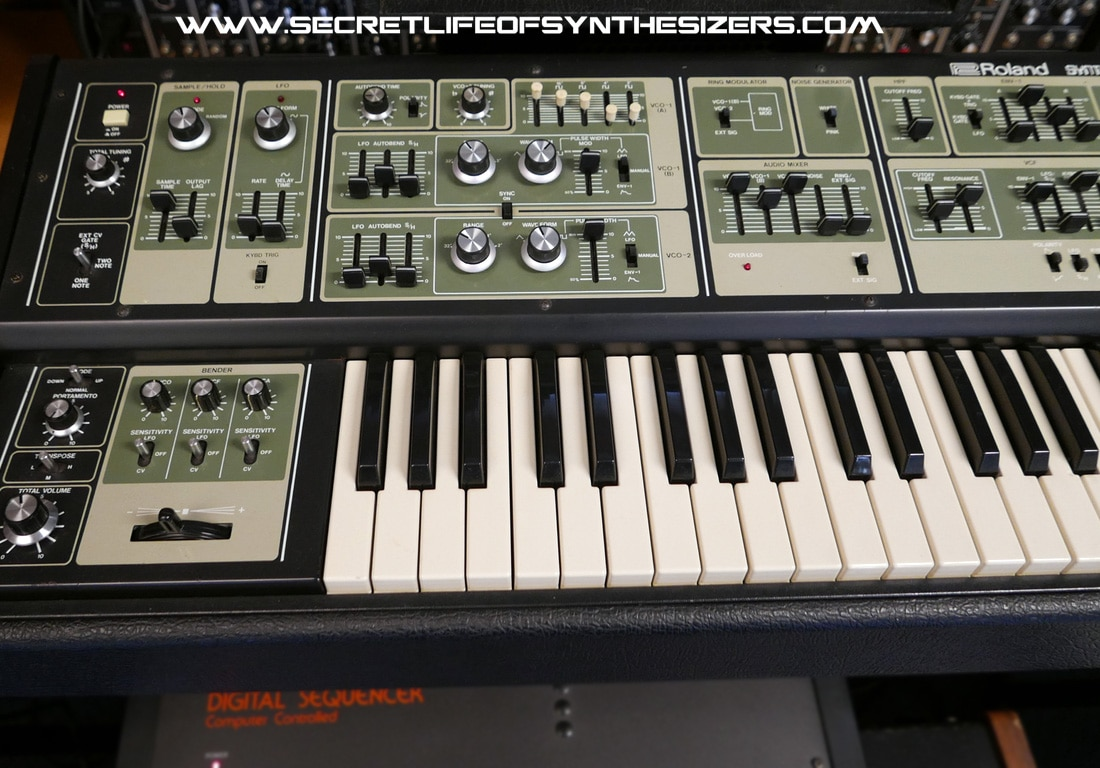 Roland SH-7 synthesiser front panel