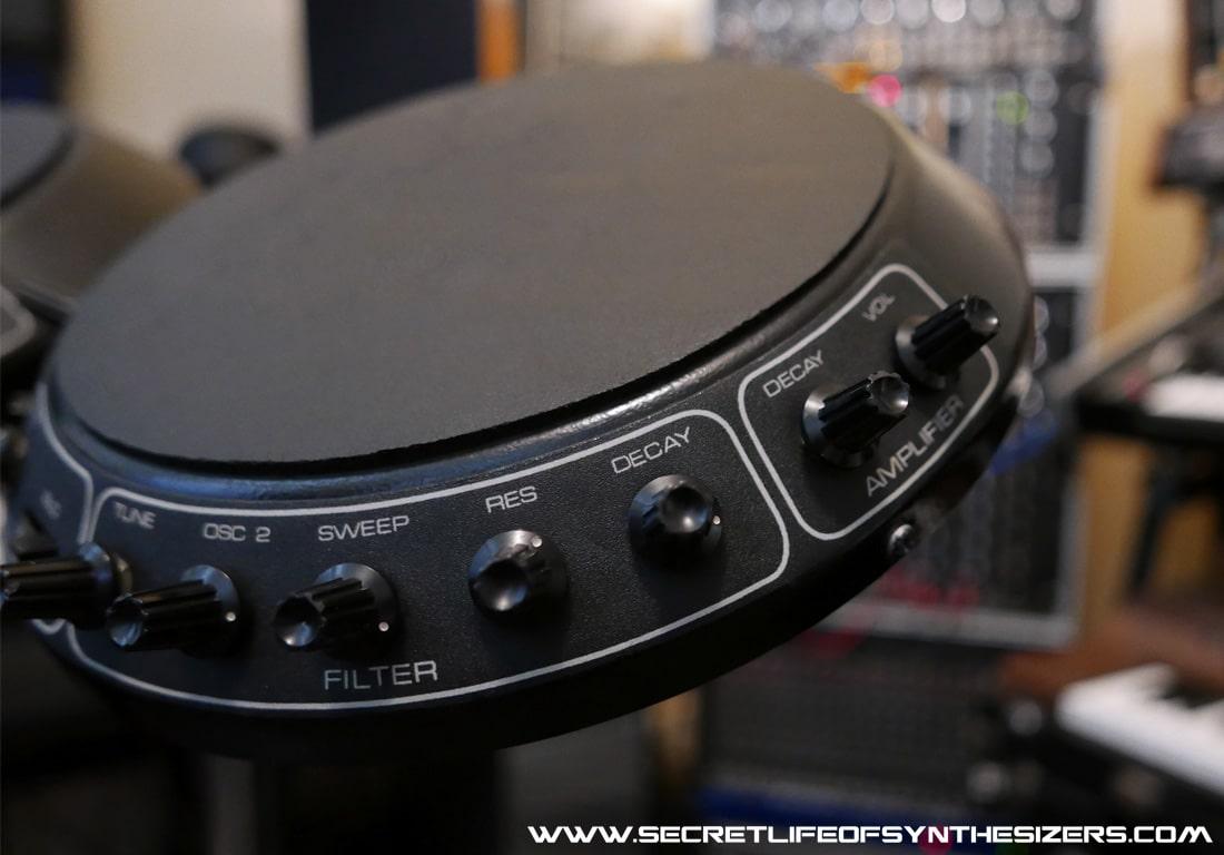 Synare 3 drum pad control pots