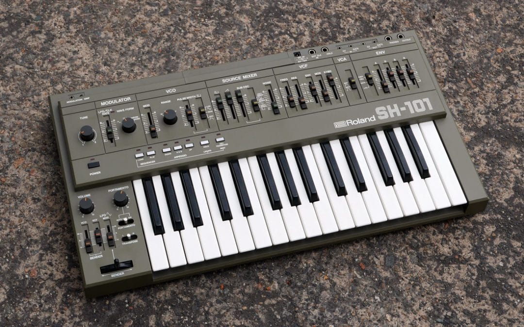 Grey Roland SH-101 synthesizer