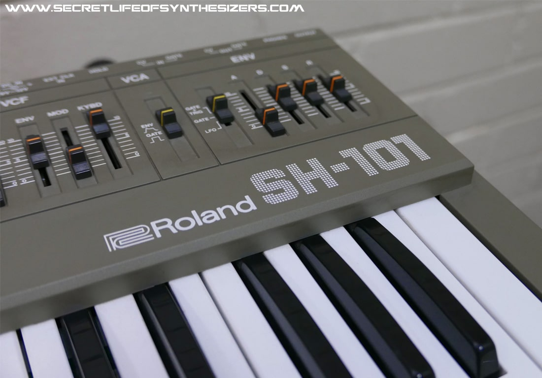 Roland SH-101 ADSR sliders
