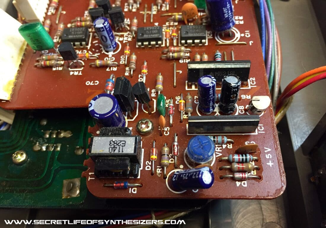 Roland Sh 101 Buying Guide And Repair Information Installed Power Supply Circuit Board Showing Components