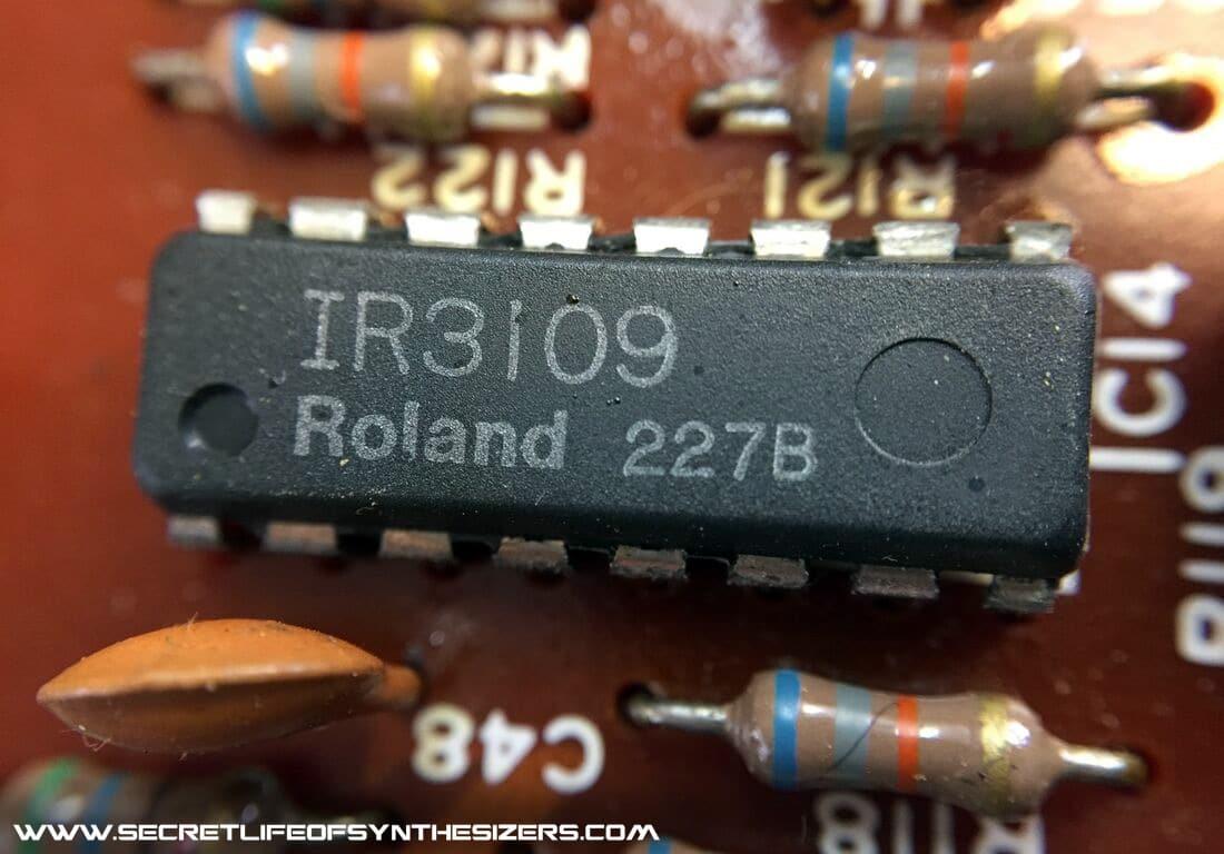 Roland SH-101 IR3109 filter