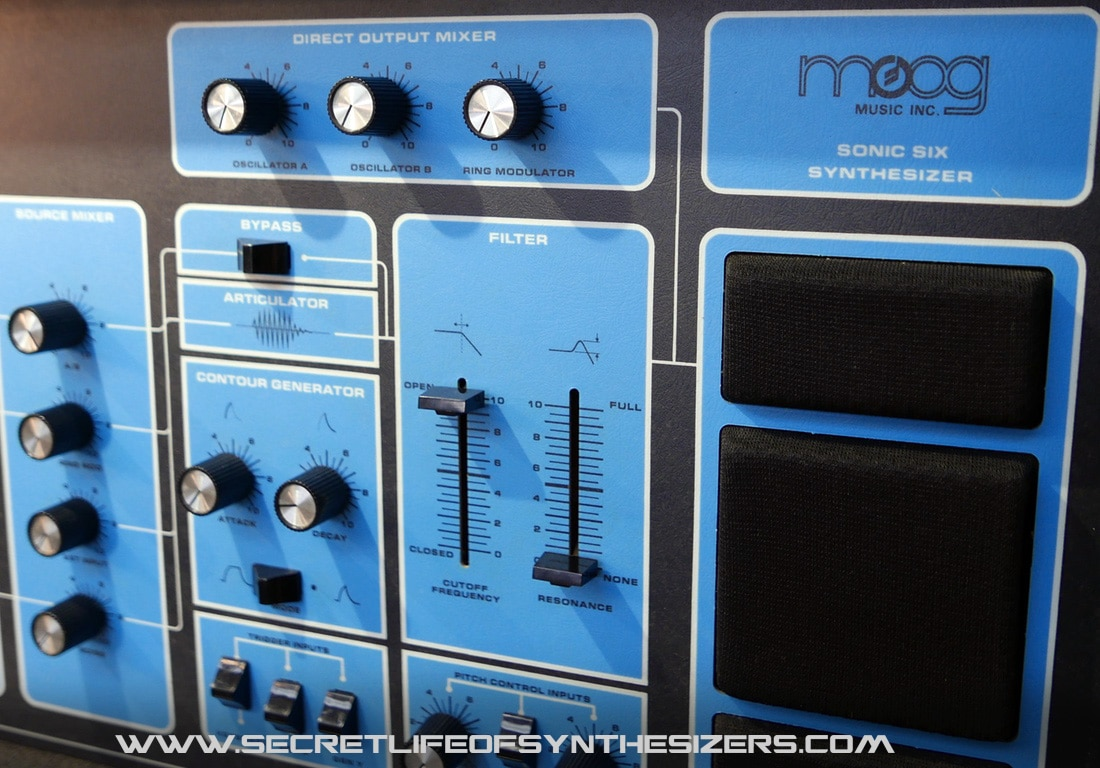 Moog Sonic Six filter and articulator section