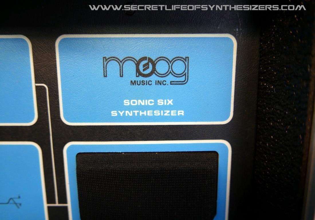 Moog Sonic Six front panel logo
