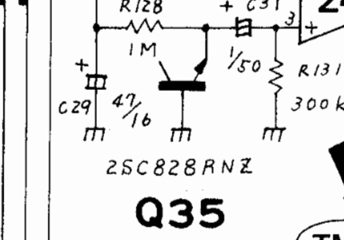 The Rejected Transistor At Heart Of Iconic Roland Tr 808 Circuit Diagram Q35 Noise Schematic Copyright Corporation